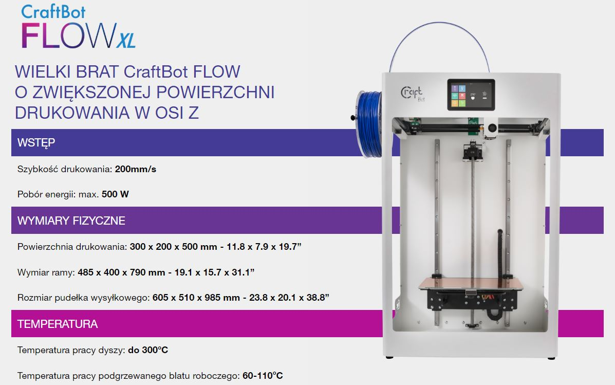 CraftBot FLOW XL